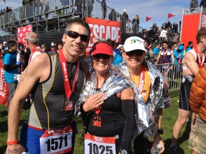Tim, Sue and I after the race - we did it!