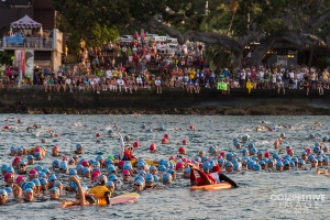 Here we are! Treading water (or hanging on to the paddleboards)  2,000 + people....