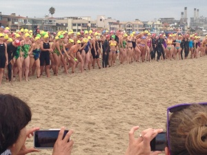 Lining up for the beat down!  I'm in the front - can you find me?